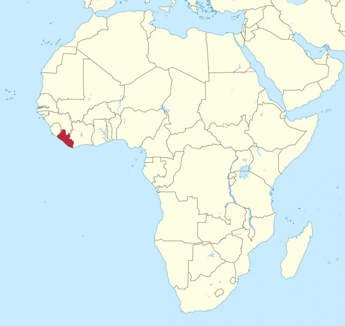 map of Liberia africa