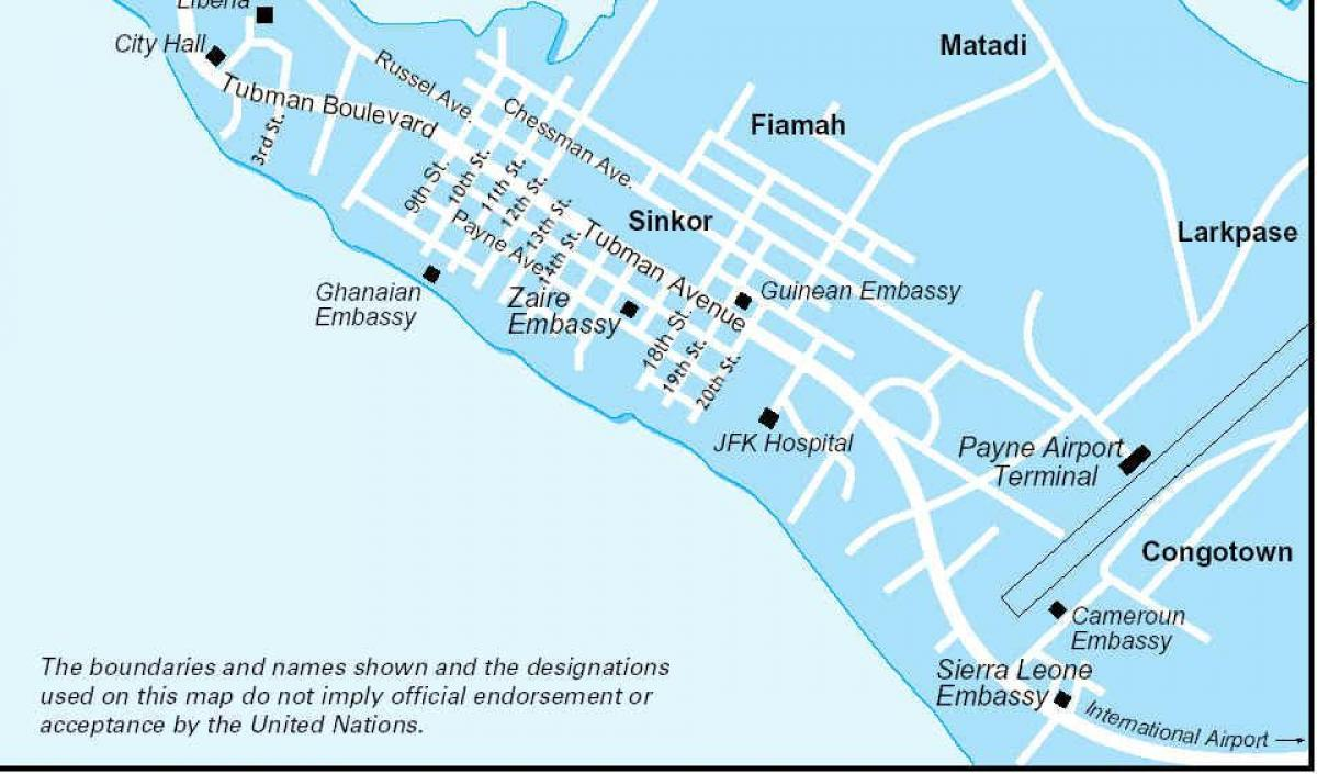 Image of: Monrovia Liberia Map Map Of Liberia Natural Resources Western Africa Africa