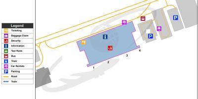 Map of Liberia airport terminal