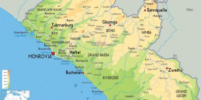 Draw the map of Liberia